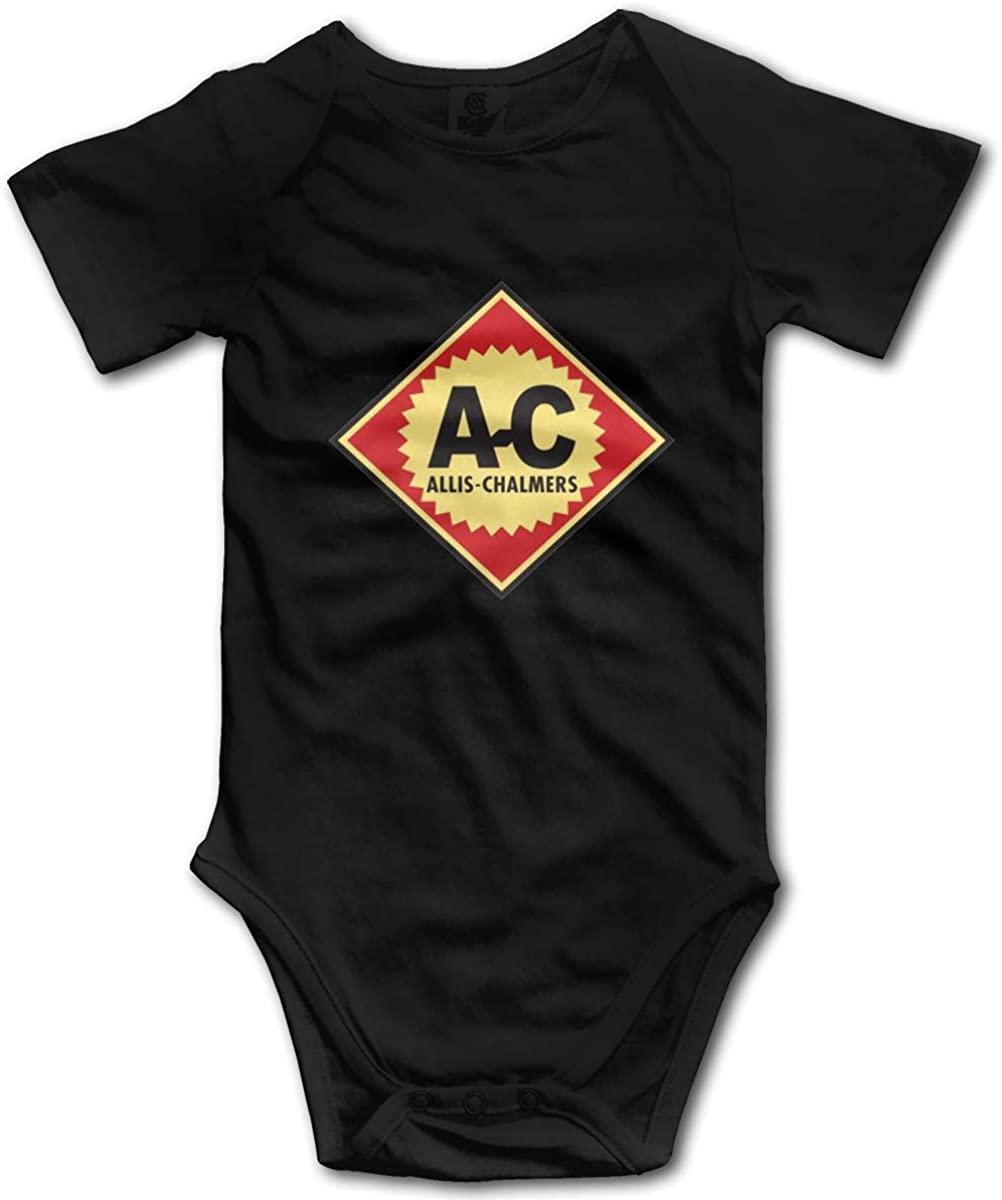 AP.Room Baby Allis Chalmers Logo Fashion Bodysuit Cute Short Sleeves Onesies