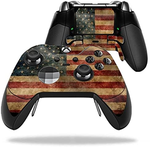 MightySkins Skin Compatible with Microsoft Xbox One Elite Controller - Vintage Flag | Protective, Durable, and Unique Vinyl wrap Cover | Easy to Apply, Remove, and Change Styles | Made in The USA