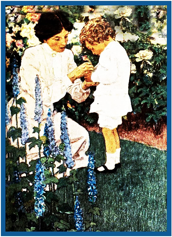 Orenco Originals Boy Mother Garden by Jessie Willcox Smith Counted Cross Stitch Pattern