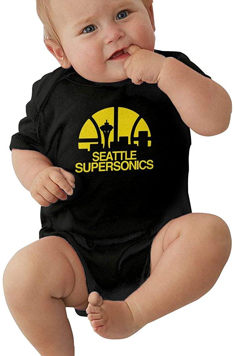 DianaHodge Seattle Supersonics Basketball Infant Bodysuit Creeper Baby Romper Jumpsuit Short-Sleeve Onesie