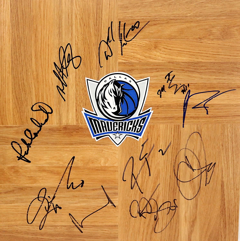 Dallas Mavericks 2014-15 Team Autographed Signed Basketball Floorboard