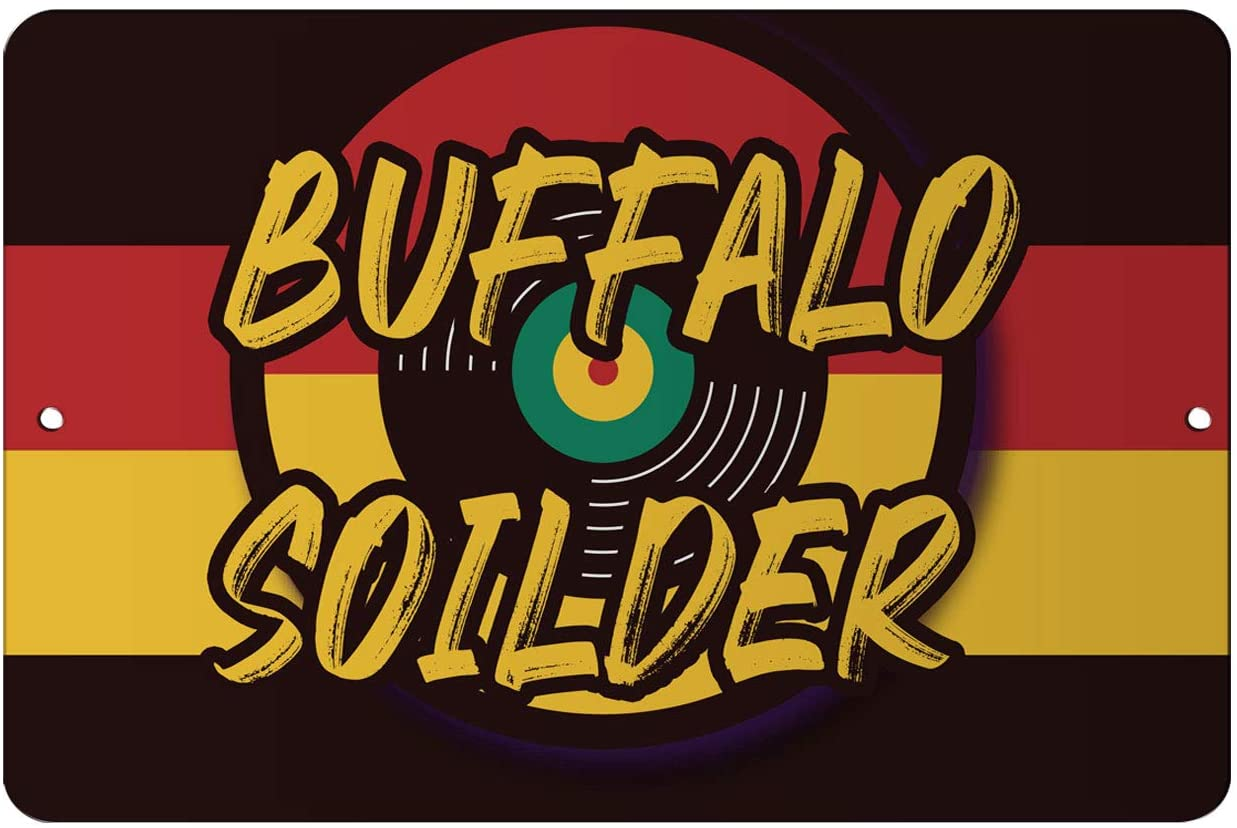 Makoroni - Buffalo Soilder Jamaica Design Reggae 12x18 inc Aluminum Decorative Wall Street Sign