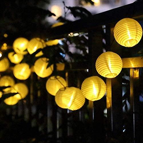 HUIFEIDEYU 2M/3M 10LEDs/20LEDs Lantern Shape String Lights for Decor Battery Box Style for Festival Christmas Decor Lighting Warm White 2 Meters 10 LED