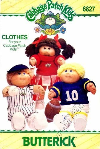 Butterick Pattern 6827 ~ Cabbage Patch Kids Clothes