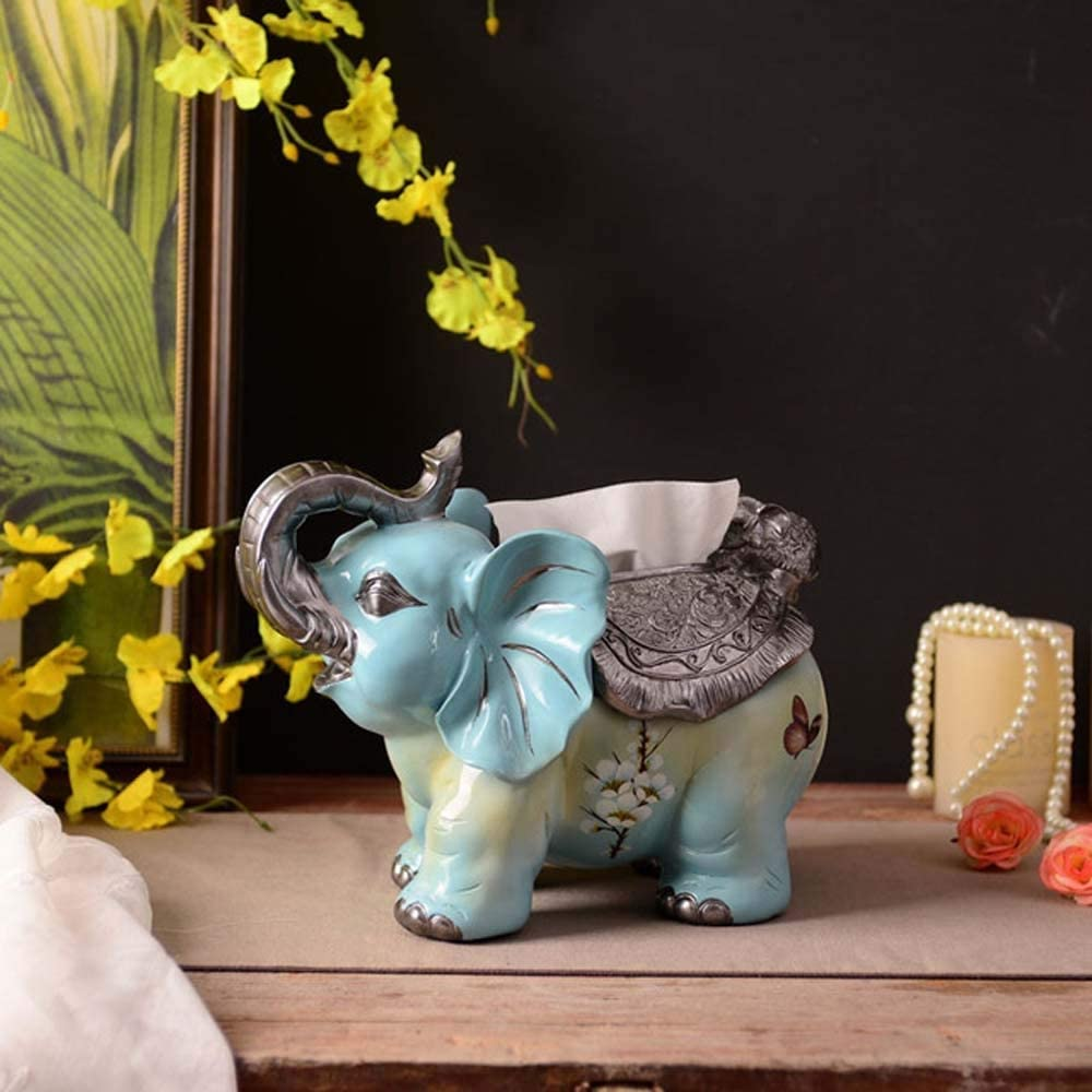 KONGZIR European-style Tissue Box Pumping Creative Paper Creative Sample Box Office Ornaments Crafts House Decoration 31 18 20CM Delicate beautiful