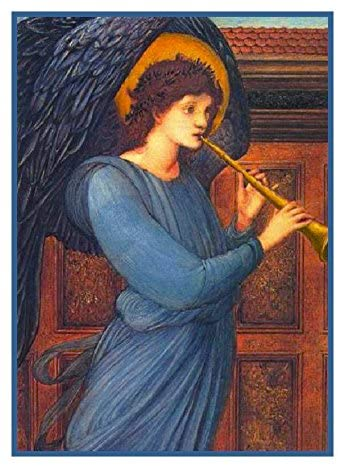 Orenco Originals The Angel by Edward Burne-Jones Counted Cross Stitch Pattern