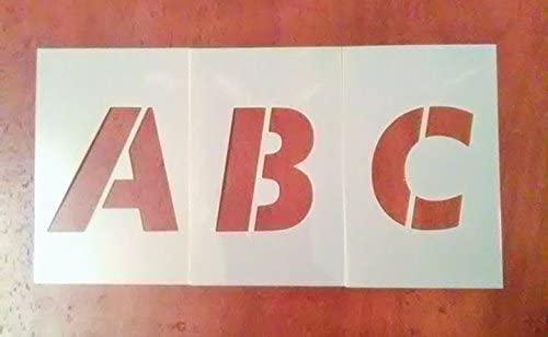 6 Inch Uppercase Futura Font Alphabet Stencil