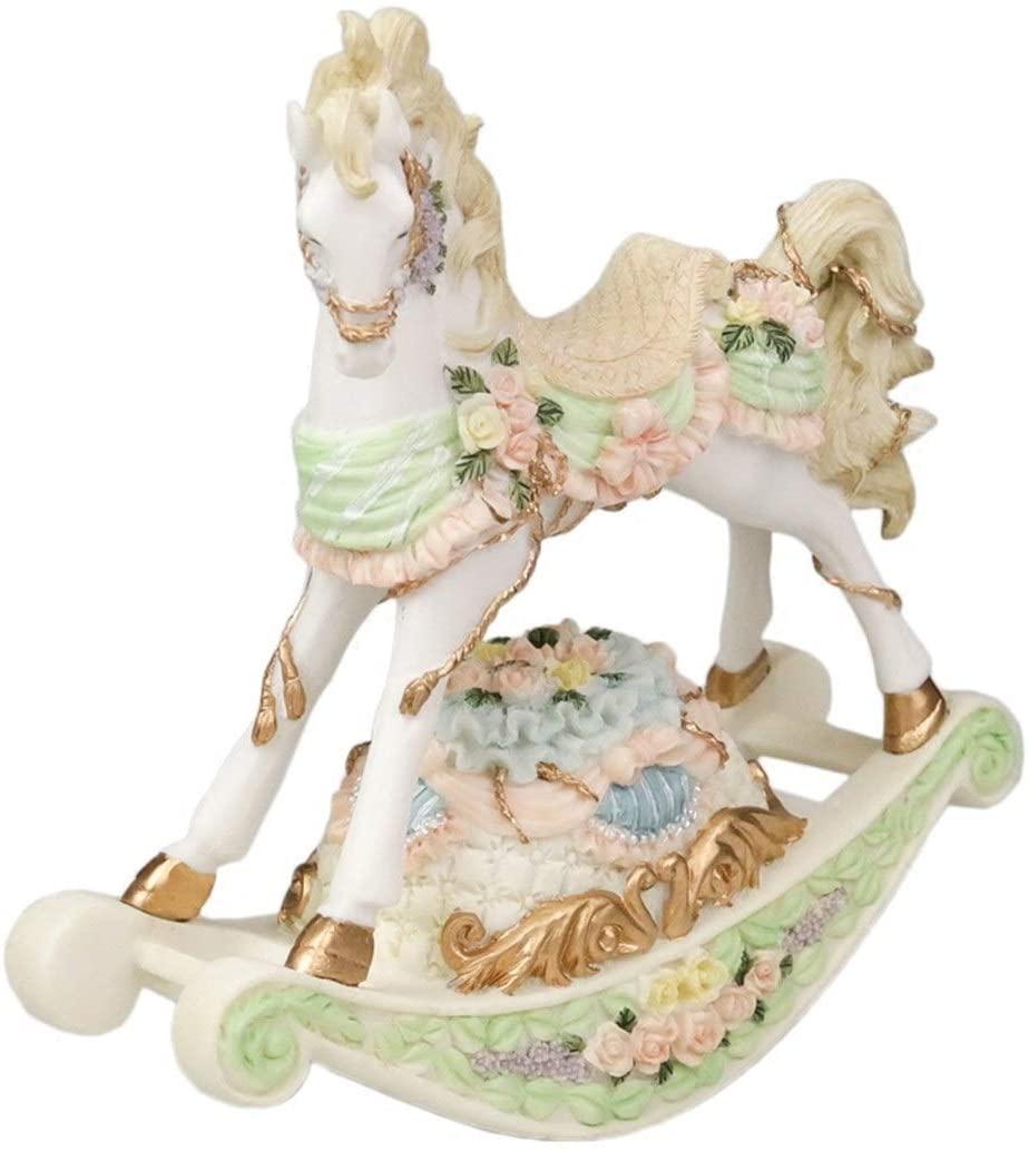 ZhihuaHd Trojan Music Box Rocking Horse Music Box to Send Girls Children Baby Creative Desktop Ornaments Children's Day Birthday Gift. Beautiful Home Decorations