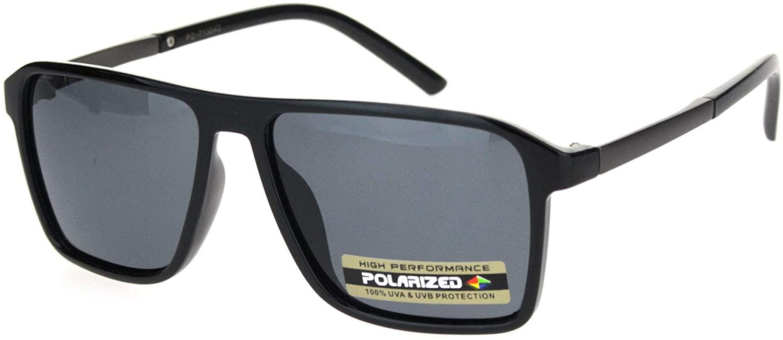 Polarized Mafia Mobster Flat Top Racer Luxury Sporty Sunglasses
