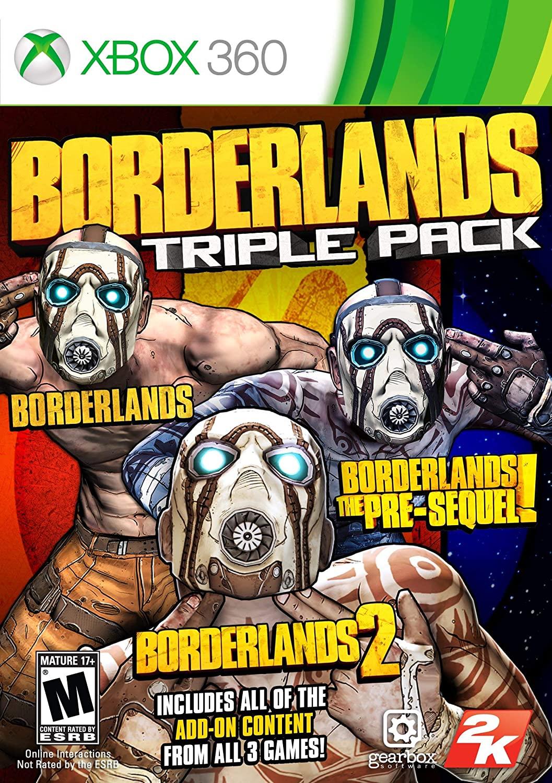 Borderlands Triple Pack - Xbox 360 (Renewed)