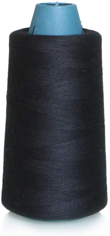 High Tensile 100% Polyester Black Sewing Thread Spools Heavy-Duty Huge Cone 2515 Yards (2300M) for Hand Sewing and Quilting Serger Sewing Machines – ACRAFT