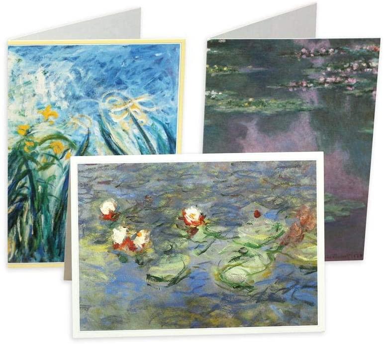 Caspari Monet Boxed Note Cards - 8 Note Cards & Envelopes