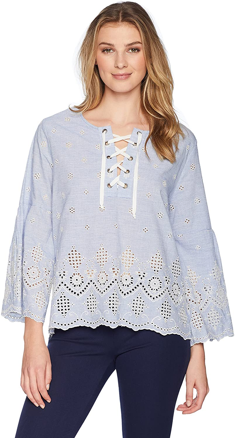Karen Kane Women's Embroidered Lace Top
