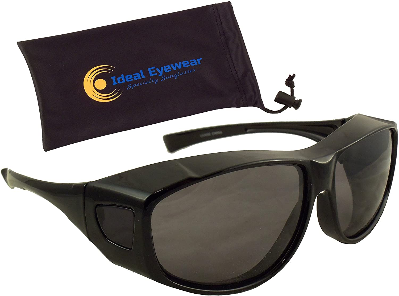 Fit Over Sunglasses with Polarized Lenses - Wear Over Prescription Glasses
