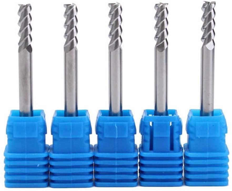 CHUNSHENN 5pcs Shank 3 Flute End Mill Cutter 4mm Metal Industrial Tools