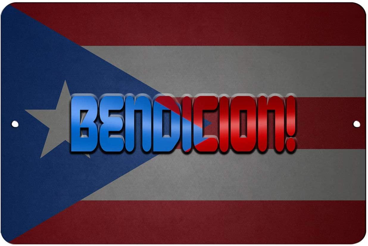Makoroni - BENDICION! Puerto Rican Design 12x18 inc Aluminum Decorative Wall Street Sign