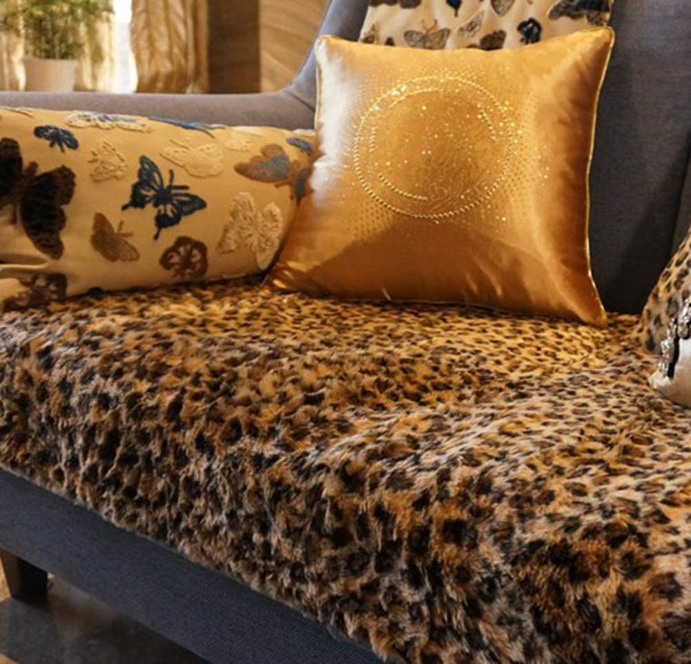 HOMRanger Soft Streaks Imitation Fur Couch Cover,Breathable Durable Sofa Slipcover Not-Slip Decoration Bay Window Cushion Sofa Cover-spot 70x70cm(28x28inch)