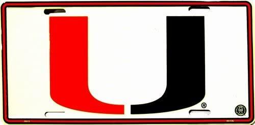 Miami Hurricanes Collegiate Embossed Aluminum Automotive Novelty License Plate Tag Sign