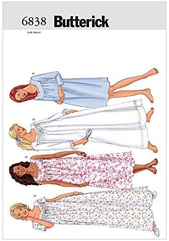 BUTTERICK Ladies Easy Sewing Pattern 6838 Nightgowns Sleepwear