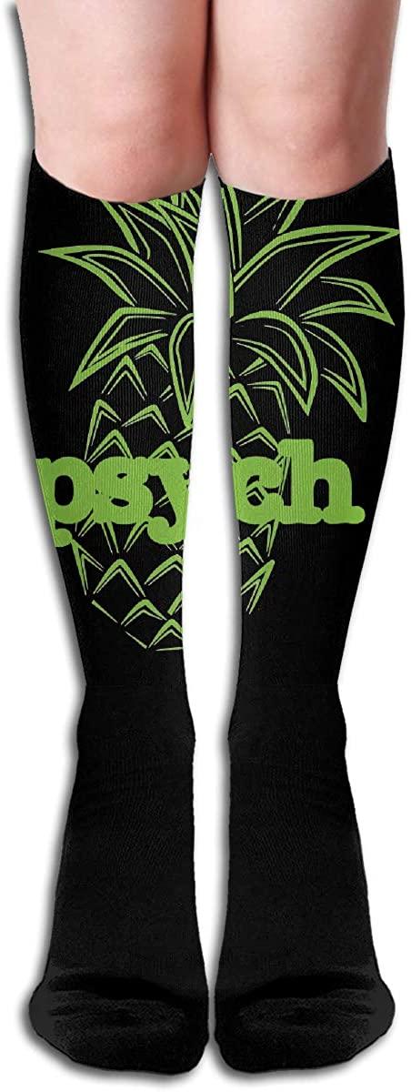 Psych Pineapple Logo Long Socks Womens Knee High Stockings Athletic Tube Stockings