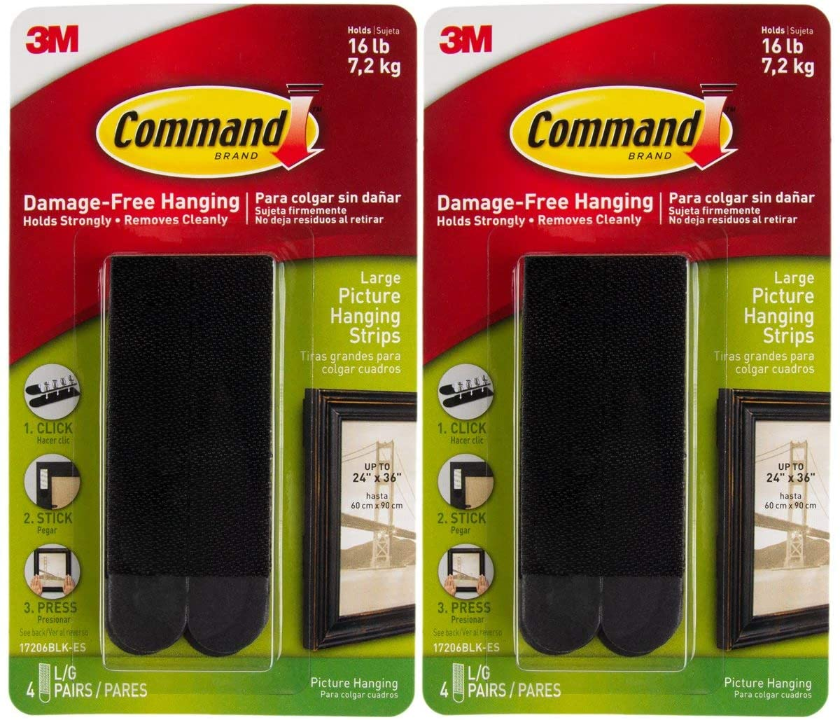 Command Strips 17206Blk Comm Pic Hang Large