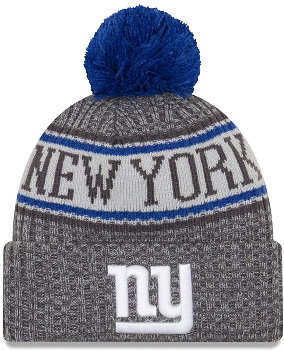 New Era New York Giants Gray/Graphite Sport Knit NFL 2018 Beanie Unisex Hat Graphite, OSFM