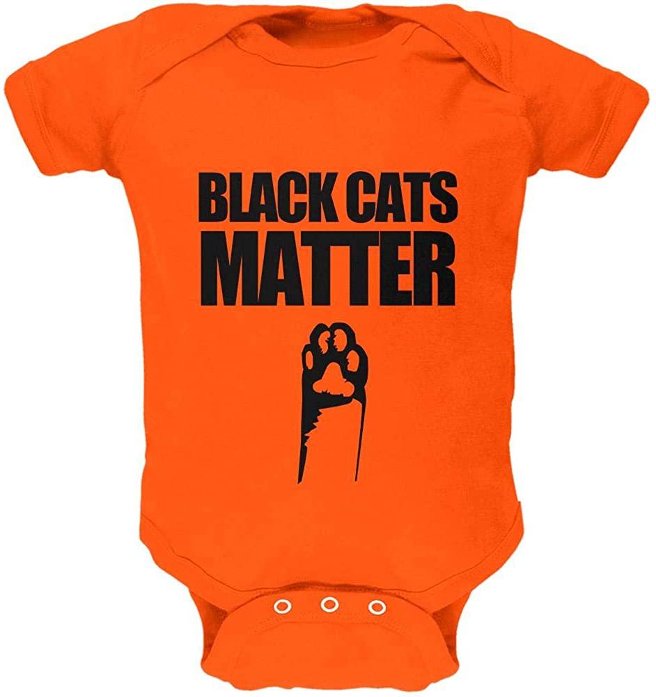 Halloween Black Cats Matter Soft Baby One Piece