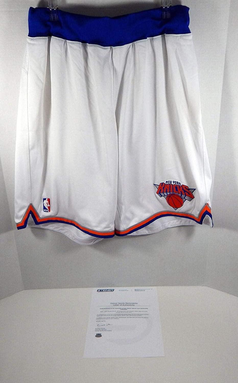 2012-13 New York Knicks Steve Novak #16 Game Used White Shorts Pro Cut 204332 - NBA Game Used
