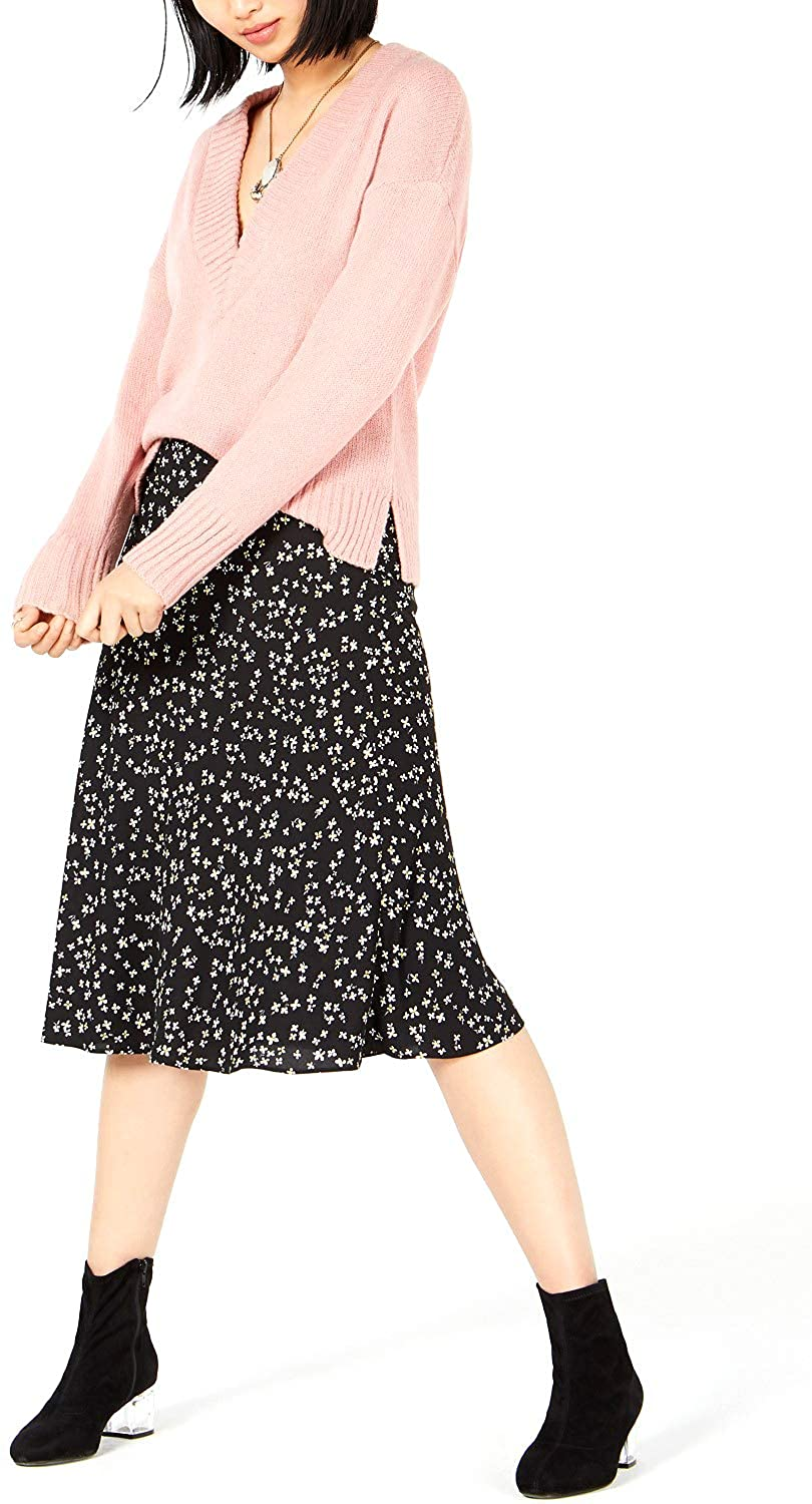 Bar III Women's Floral-Print Midi Skirt