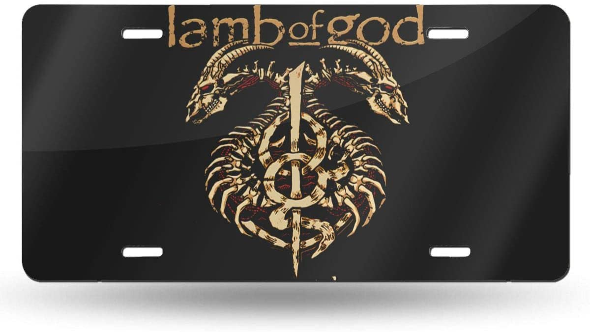 Wehoiweh L-A-M-B O-F God Lightweight and Durable, Single-Sided Printing, License Plate 6
