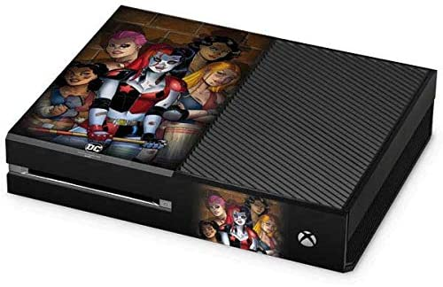 Skinit Decal Gaming Skin for Xbox One Console - Officially Licensed Warner Bros Harley Quinn and Crew Design