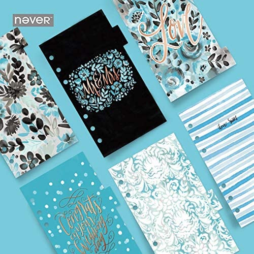 Clips 6pc/Set Never Ocean Spiral Notebook dividers Index Pages 6 Hole Loose Planner A6 Bookmark Gift Stationery Office School Supply