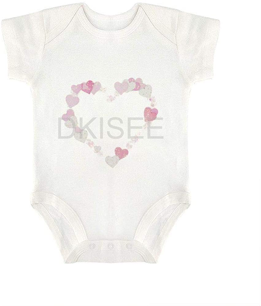 DKISEE Comfortable Baby Boys Girls Romper Jumpsuit Heart Pattern47 Short Sleeve Bodysuits Infant Funny Onesies Bodysuits