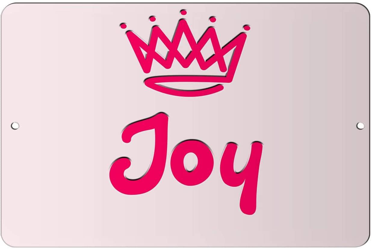 Makoroni - Joy Girl Female Name 12x18 inc Aluminum Decorative Wall Street Sign