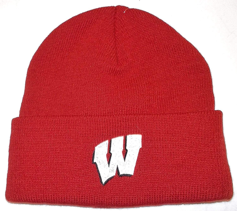 NCAA adidas Wisconsin Badgers Cardinal Basics Classic Cuffed Knit Beanie