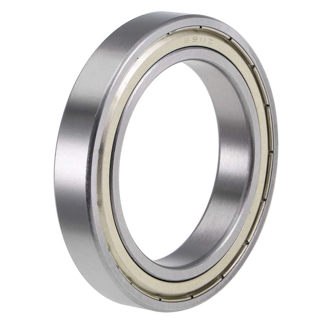 uxcell 6911ZZ Deep Groove Ball Bearings Z2 55mm x 80mm x 13mm Double Shielded Chrome Steel