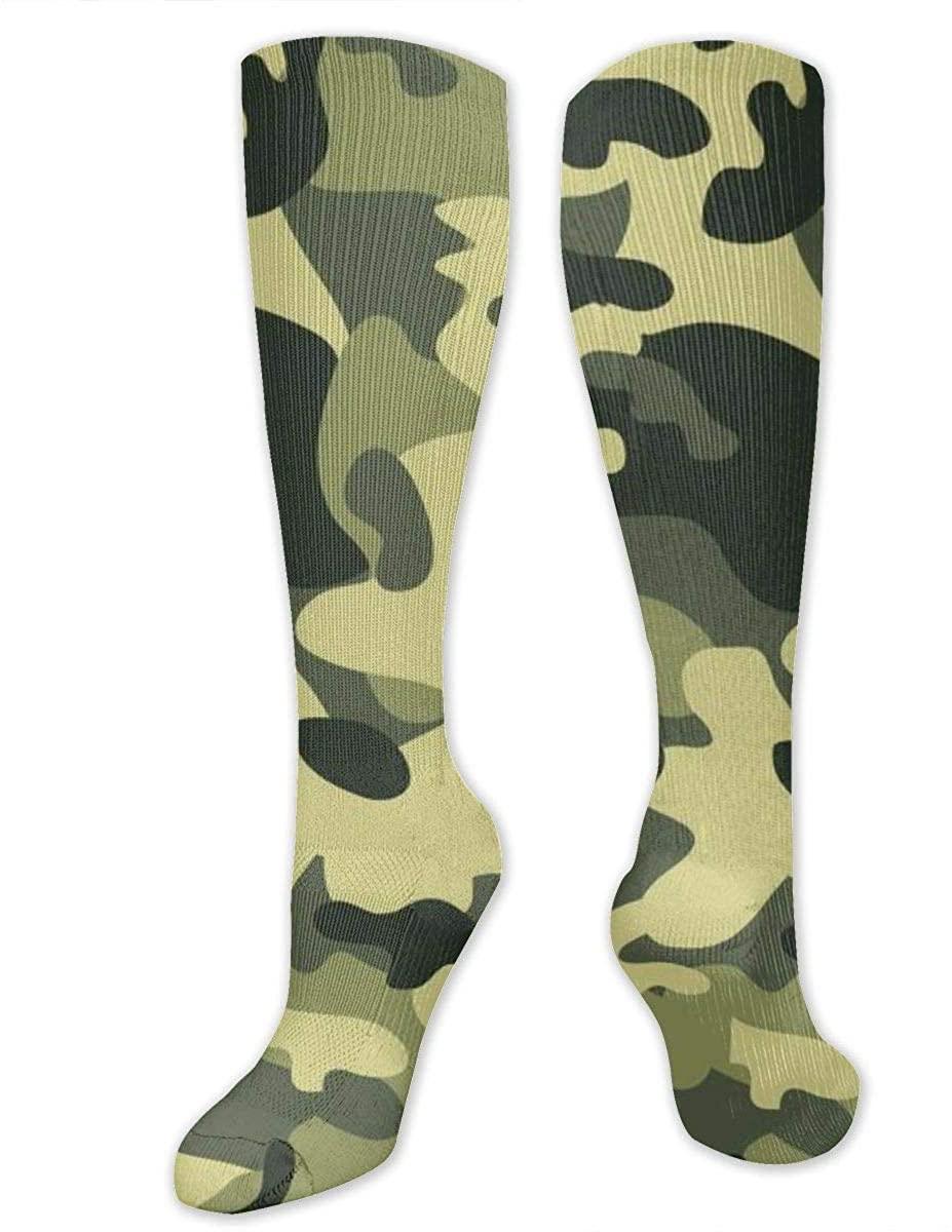 Knee High Socks For Men Women Camouflage Running Training Long Hose Stockings