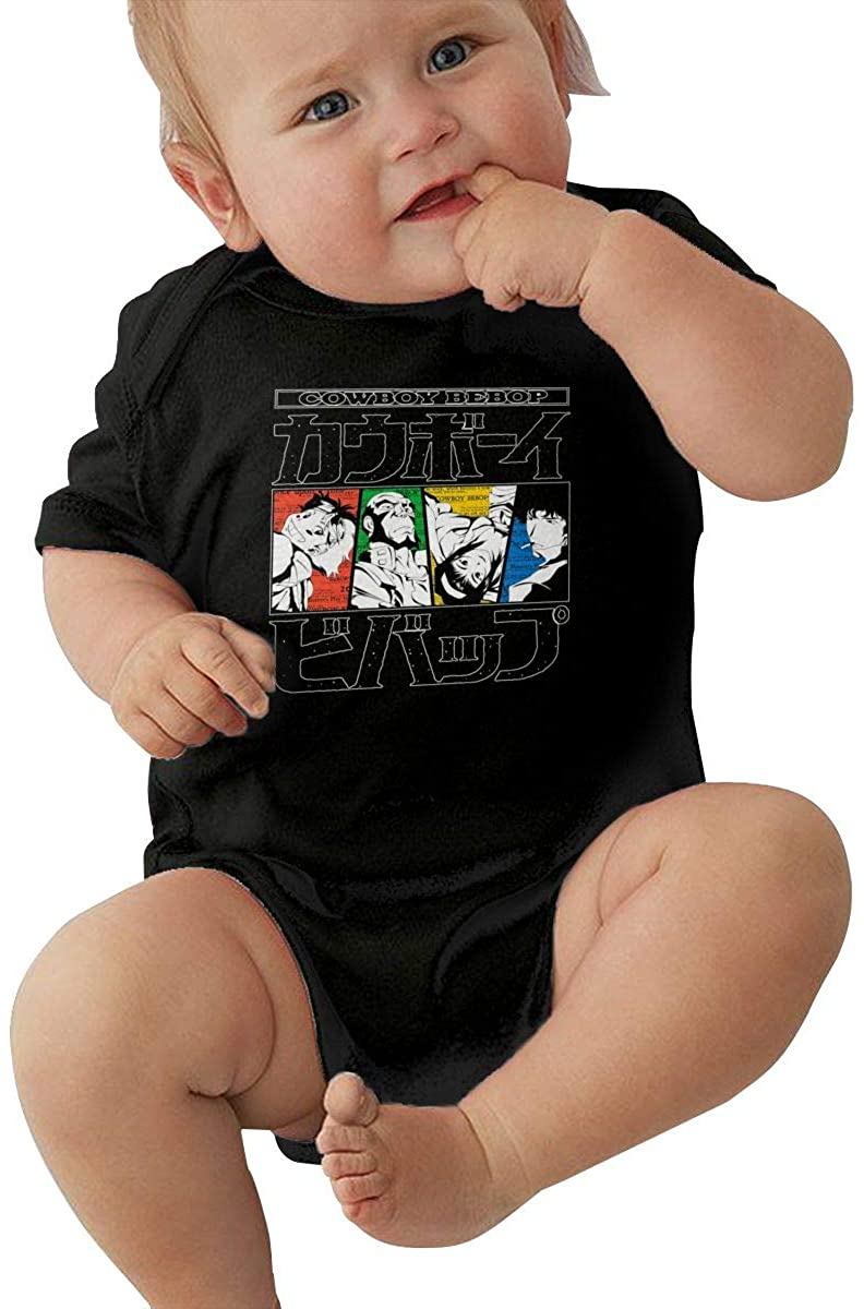 Cowboy Bebop Small Child Unisex Baby Short Sleeve 0-24 Months Black