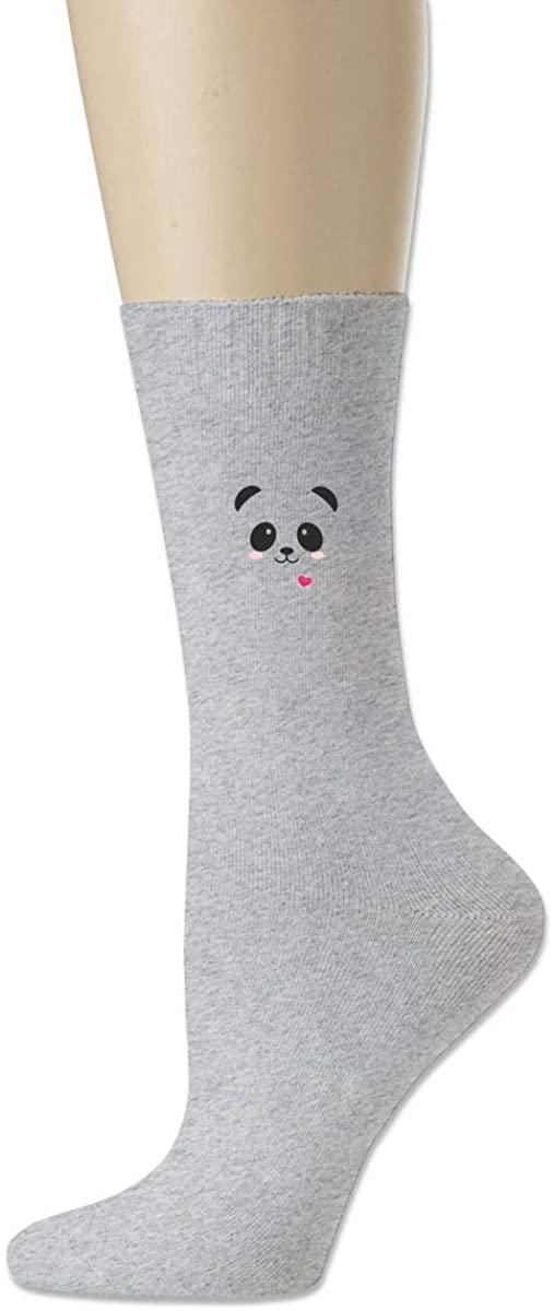 Men Women Socks Cartoon Panda Smile Boot Tube Dress Sock Crew Long Hose For Yoga