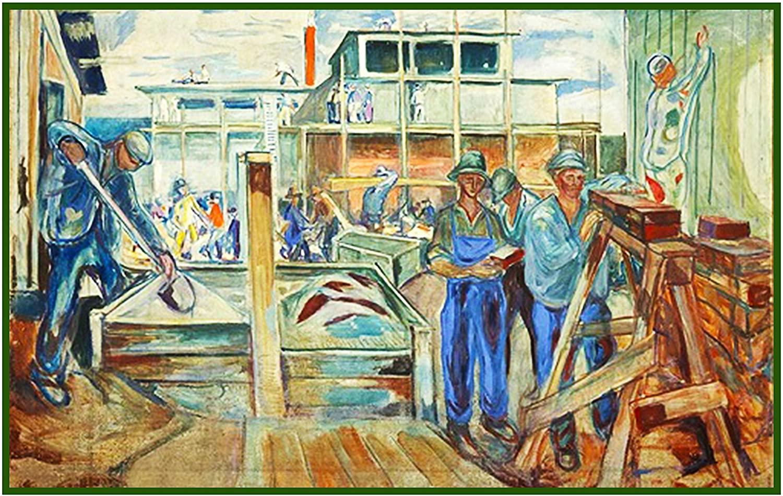 Orenco Originals Construction Symbolist Artist Edvard Munch Counted Cross Stitch Pattern