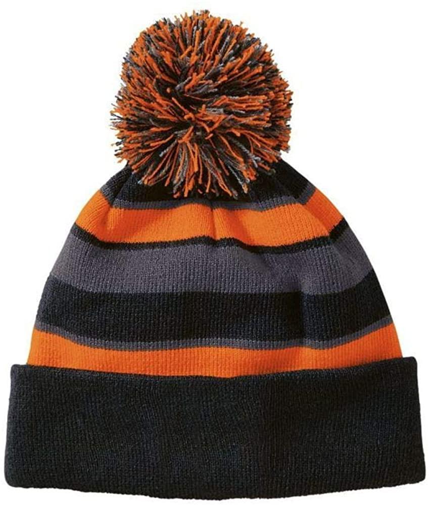 Augusta Sports One-Size Black/Orange/Graphite Beanie