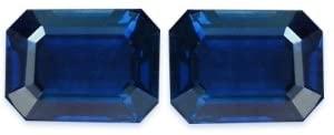 2.22 Carat Loose Sapphires Emerald Cut Pair