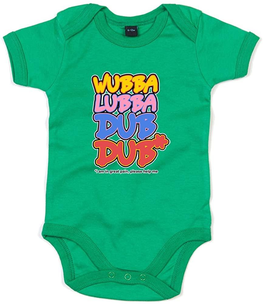 Wubba Lubba Dub Dub, Printed Baby Grow - Kelly Green/Transfer 0-3 Months