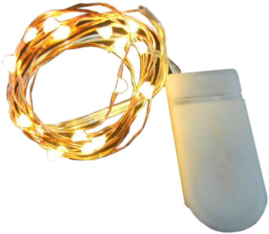 OneStepTimers 10 Pack, 10 Fairy Light LED. CR2016 Battery, 3 Ft or 20 in (Copper 10 LEDs, 20.00)