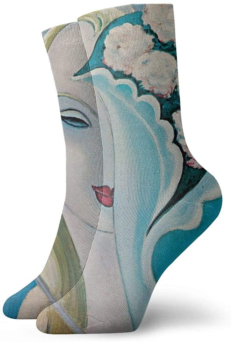 MichaelHazzard Derek & The Dominos Mens Womens Novelty Crew Socks Concert Style Over Print Socks
