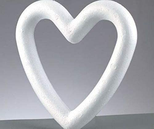 Polystyrene Hearts (1pc), Arts Supplies, Arts Crafts, Efco, Objects, Polystyrene, Cotton Wool and Plastic, Hobby Colors, Decoupage