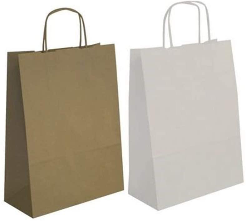 Agipa 101853Kraft Paper Bag, Small, White