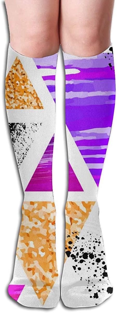 Custom Women Knee Socks Alphabet Girls Long High Knee Stocking One Size Soft & Breathable