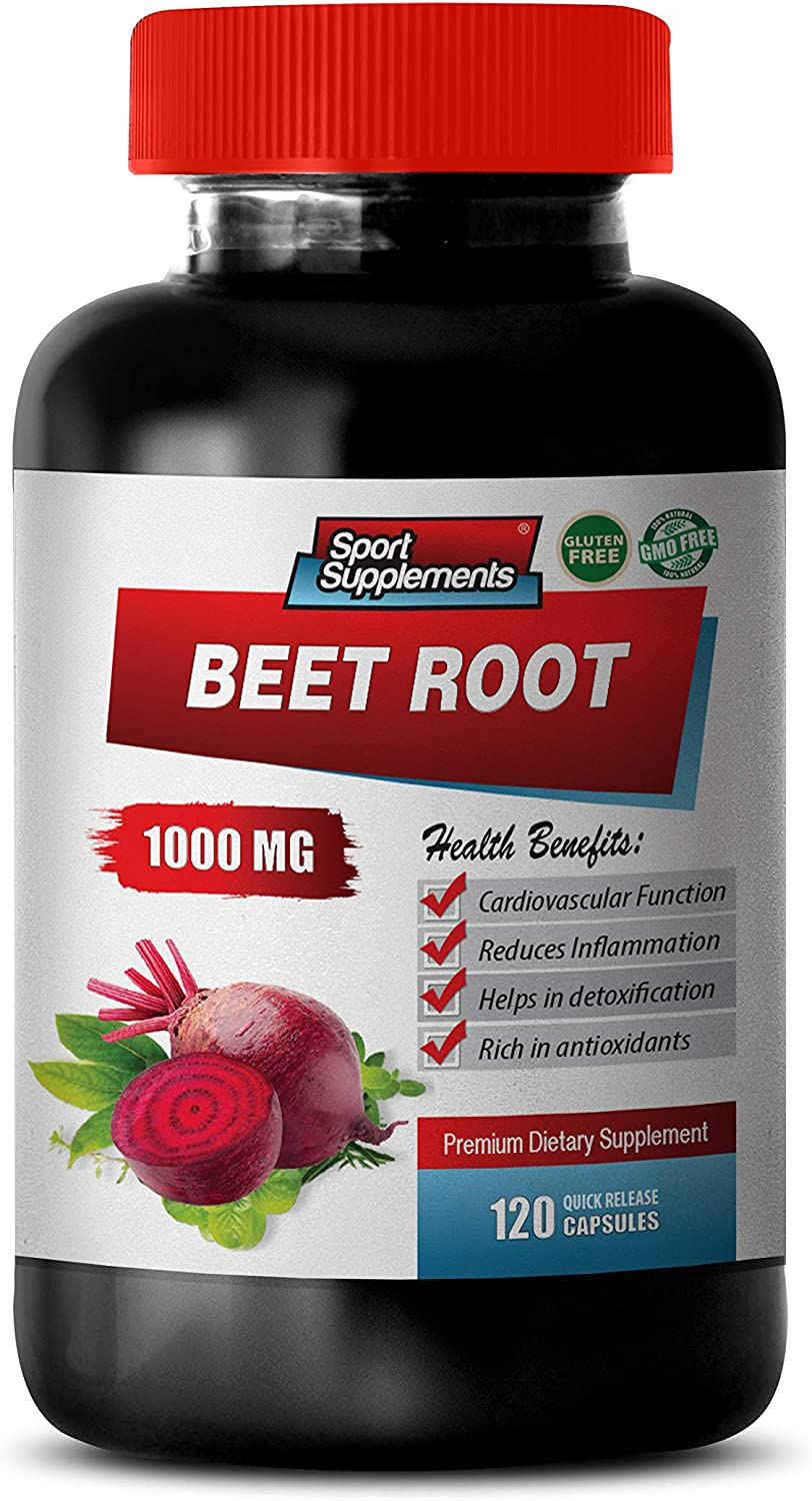 antioxidant Supplement - Beet Root 1000MG - Best ANTIOXIDANTS - Vitamins and Minerals - Natural - Beet Root Blood Pressure - 1 Bottle (120 Capsules)