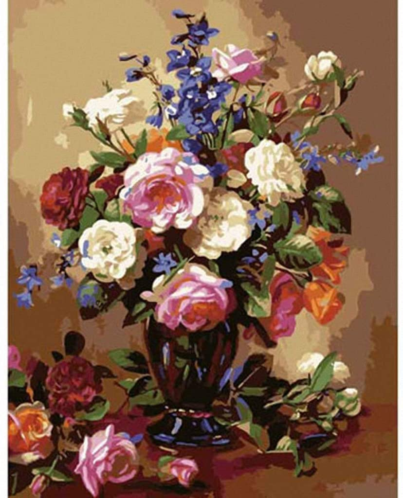 Beautiful Flower Arrangement Needlepoint Canvas A00736 (18CT Mono Deluxe,16